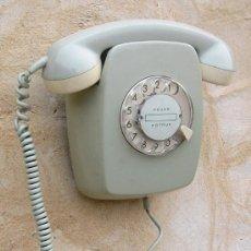 Teléfonos: TELEFONO DE PARED ANTIGUO FUNCIONANDO CORRECTAMENTE ,COLOR MAGENTA LAVANDA ,,,TEL365. Lote 35208589