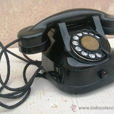 Teléfonos: TELEFONO SOBREMESA DE HIERRO NEGRO ,FUNCIONANDO , TIMBRE DOBLE CAMPANA,SONIDO ESPECTACULAR ,,,TEL365. Lote 35208606