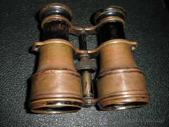 ANTIGUOS PRISMATICOS-GROOS.LTD-LONDRES & PARÍS-BRONCE-VER DESCRIPCIÓN-(6) (Antigüedades - Técnicas - Instrumentos Ópticos - Binoculares Antiguos)