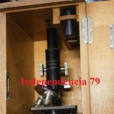 Antigüedades: MICROSCOPIO ALEMÁN EN CAJA. Lote 35233944