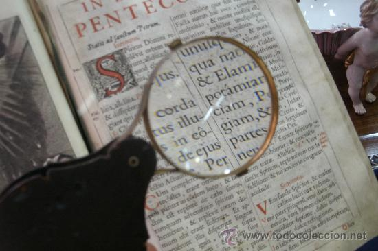Antigüedades: ANTIGUA LUPA PLEGABLE ORIGINAL DEL SIGLO XVIII AL ESTILO IMPERIO FABRICADA EN CUERNA Y BRONCE - Foto 7 - 35399994