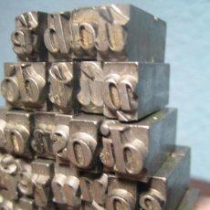 Antigüedades: IMPRENTA, LETRAS DE PLOMO SOBRE PEANA METACRILATO - REF. META 8. Lote 35411760