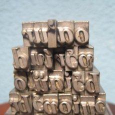 Antigüedades: IMPRENTA, LETRAS DE PLOMO SOBRE PEANA METACRILATO - REF. META 11. Lote 35415594