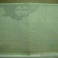 Antigüedades: GRAN CARTA NAUTICA LORAN DE LA COSTA ISLANDESA Y EL BANCO DE LAS FEROE - - 104 X 71 CNT. Lote 35438052