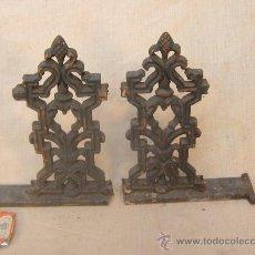 Antigüedades: 2 TROZOS DE REJA EN HIERRO DE FORJA. Lote 35484685