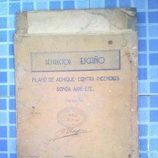 Antigüedades: PLANOS PLANO DEL DESTRUCTOR ESCAÑO BARCO BUQUE MEDIDAS 2,20 X 0,60 AÑO 1944. Lote 29857514