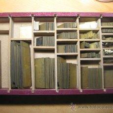 Antigüedades: IMPRENTA, RAYAS DE BRONCE PARA TIPOGRAFIA - REFERENCIA DESCANTERADA DE 1 PUNTO. Lote 35514209