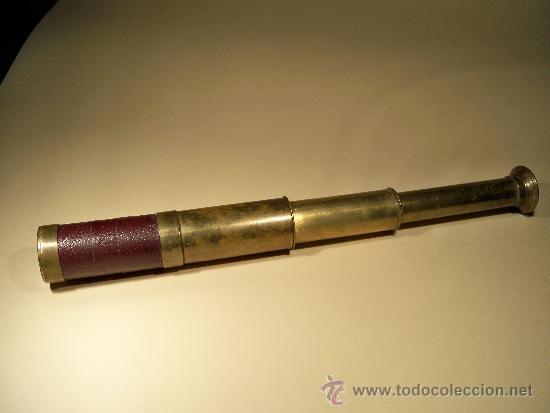 CATALEJO ANTIGUO DEL SIGLO XIX (Antigüedades - Técnicas - Instrumentos Ópticos - Catalejos Antiguos)