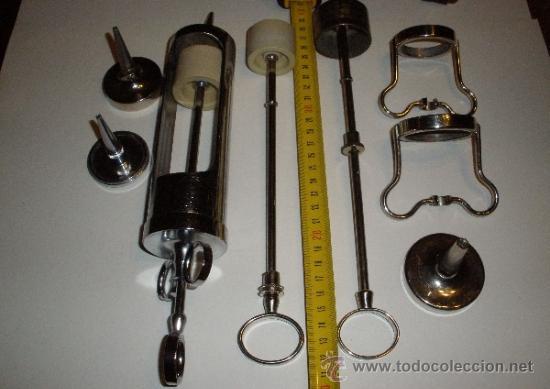 Antigüedades: JERINGA METALICA PARA LAVADOS. PIEZAS. INSTRUMENTAL MEDICO, MEDICINA - Foto 2 - 76404967