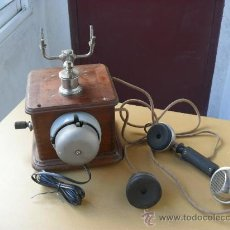 Teléfonos: ANTIGUO TELEFONO,MADERA,CON TIMBRE,FUNCIONANDO,MUCHAS FOTOS MIRALO,1915. Lote 35598796
