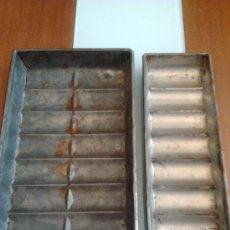 Antigüedades: MOLDES ANTIGUOS PARA HACER EL CHOCOLATE LOTE DE 2 MOLDES. Lote 35601228