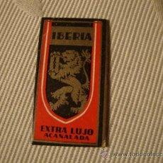 Antigüedades: CURIOSA Y ANTIGUA HOJA DE AFEITAR COMPLETA MARCA IBERIA EXTRA LUJO ACANALADA, .. Lote 35713128