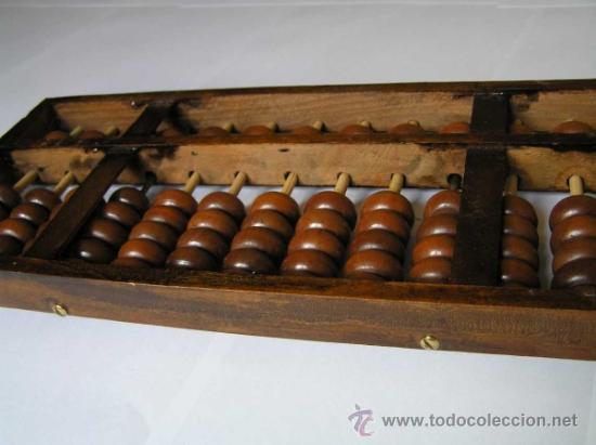 Antigüedades: ABACO CHINO TIPICA CALCULADORA QUE SE USÓ Y AÚN SE UTILIZA EN CHINA - ABACUS - Foto 11 - 37100766