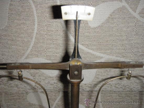 Antigüedades: BALANZA ANTIGUA SOPORTE EN MADERA 26 X 14 X 30 BÁSCULA ANTIGUA - Foto 8 - 35817501