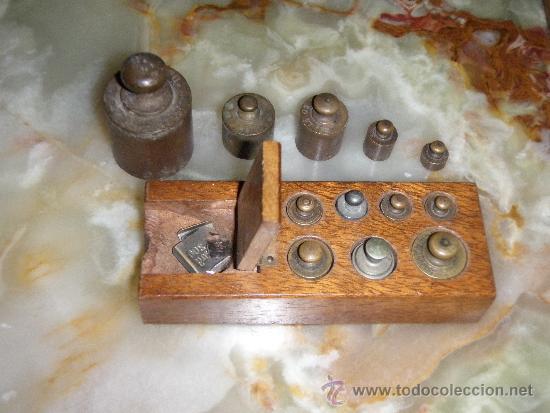 PONDERAL 9 X 2 X 35 PESOS ANTIGUOS - PONDERAL COMPLETO Y EXTRAS (Antigüedades - Técnicas - Medidas de Peso - Ponderales Antiguos)