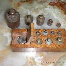Antigüedades: PONDERAL 9 X 2 X 35 PESOS ANTIGUOS - PONDERAL COMPLETO Y EXTRAS. Lote 35817706