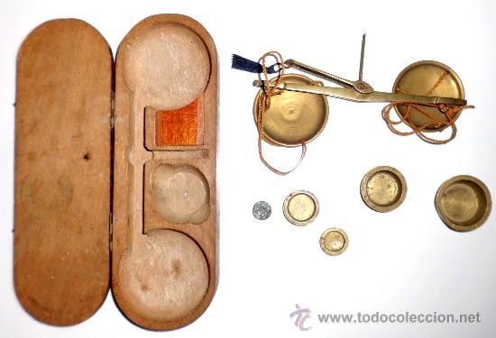 Antigüedades: azafranero, kilatero con estuche de madera - Foto 4 - 35883079