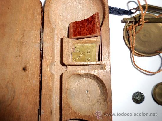 Antigüedades: azafranero, kilatero con estuche de madera - Foto 5 - 35883079