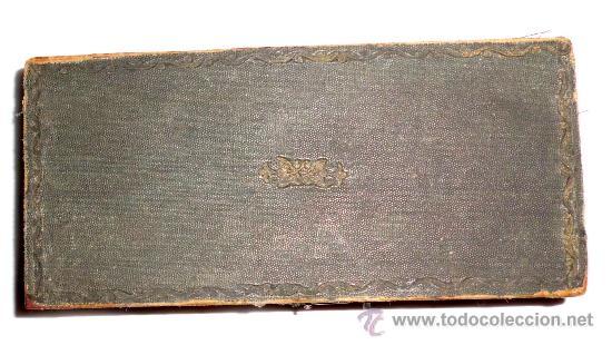Antigüedades: azafranero, kilatero de forja con estuche funda verde, onza , duro - Foto 2 - 35883231
