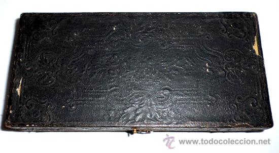 Antigüedades: azafranero, kilatero de forja con estuche funda negro, onza, duros - Foto 2 - 35883533