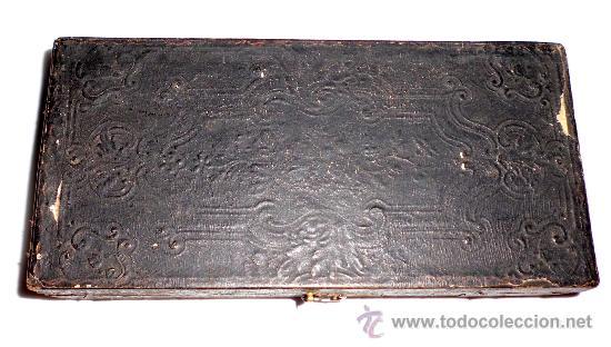 Antigüedades: azafranero, kilatero de forja con estuche funda negro, onza, duros - Foto 7 - 35883533