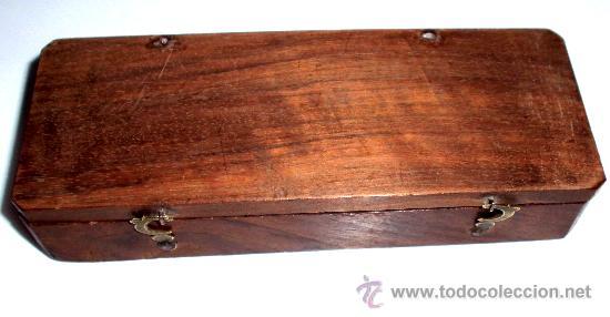 Antigüedades: azafranero, kilatero de forja con caja de madera - Foto 2 - 35883932
