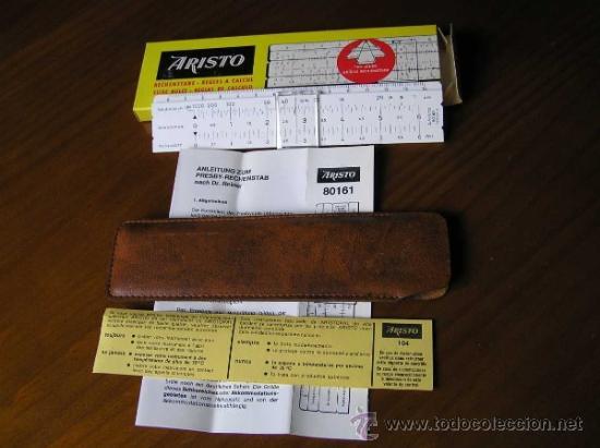 Antigüedades: REGLA DE CALCULO ARISTO 80161USO EN MEDICINA EN OFTALMOLOGÍA CALCULADORA SLIDE RULE RECHENSCHIEBER - Foto 26 - 35890291