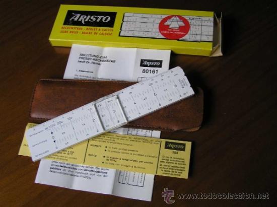 Antigüedades: REGLA DE CALCULO ARISTO 80161USO EN MEDICINA EN OFTALMOLOGÍA CALCULADORA SLIDE RULE RECHENSCHIEBER - Foto 8 - 35890291