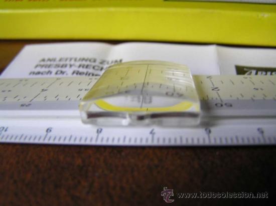 Antigüedades: REGLA DE CALCULO ARISTO 80161USO EN MEDICINA EN OFTALMOLOGÍA CALCULADORA SLIDE RULE RECHENSCHIEBER - Foto 19 - 35890291