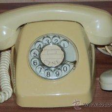 Teléfonos: TELEFONO BEIG DE SOBREMESA TELEFONICA AÑOS 70 EXCELENTE. Lote 35933586