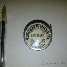 Antigüedades: 6.19 CINTA METRICA METAL, PUBLICIDAD MADRID, EUGENIO MEDRANO CALLE FUENCARRAL 22, ROPA, FABRICA . Lote 35973962