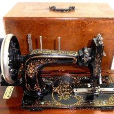 Antiquités: JOYA, ANTIGUA MAQUINA DE COSER FRISTER & ROSSMANN DE 1919 FUNCIONA, . Lote 36039922