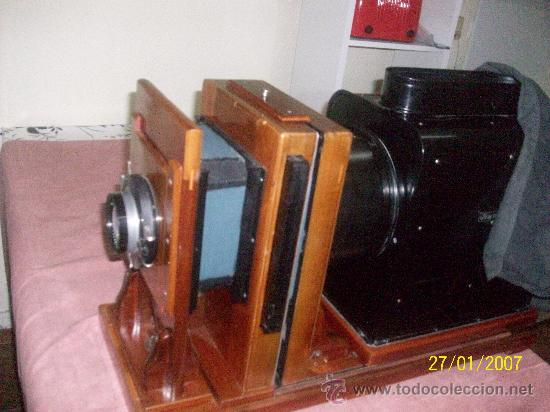 Antigüedades: camara de de fotos mui grande perfecta con caja - Foto 3 - 36040877