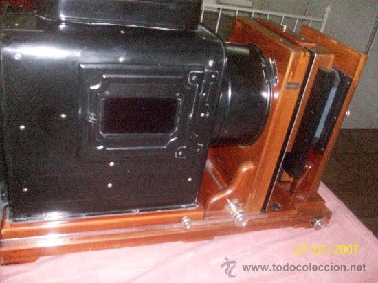 Antigüedades: camara de de fotos mui grande perfecta con caja - Foto 6 - 36040877