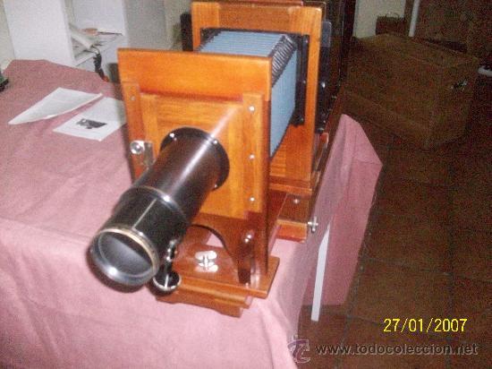 Antigüedades: camara de de fotos mui grande perfecta con caja - Foto 38 - 36040877