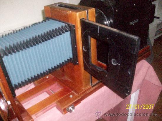 Antigüedades: camara de de fotos mui grande perfecta con caja - Foto 41 - 36040877