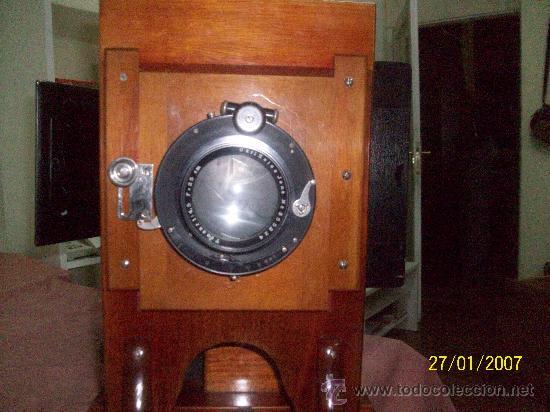 Antigüedades: camara de de fotos mui grande perfecta con caja - Foto 54 - 36040877