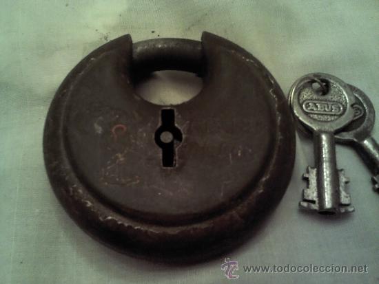 CANDADO MUY ANTIGUO MARCA ABUS Nº25 70 M/M (Antigüedades - Técnicas - Cerrajería y Forja - Candados Antiguos)