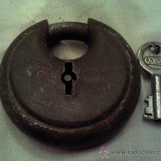 Antigüedades: CANDADO MUY ANTIGUO MARCA ABUS Nº25 70 M/M. Lote 36097508