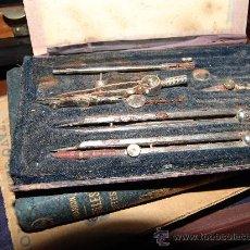 Antigüedades: ANTIGUO ESTUCHE DE COMPASES. Lote 36114538
