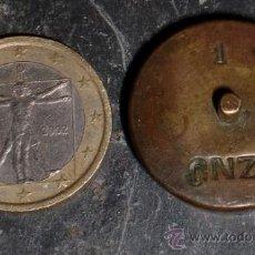 Antigüedades: PONDERAL PESA DE 1 ONZA. Lote 36123808