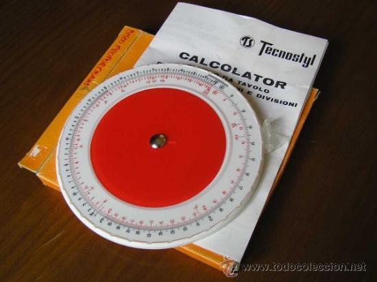 Antigüedades: REGLA DE CALCULO CIRCULAR ITALIANA TECNOSTYL - SLIDE RULE RECHENSCHIEBER - CALCULADORA - - Foto 2 - 36125912