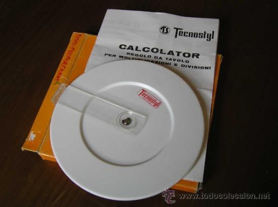 Antigüedades: REGLA DE CALCULO CIRCULAR ITALIANA TECNOSTYL - SLIDE RULE RECHENSCHIEBER - CALCULADORA - - Foto 3 - 36125912