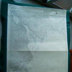 Antigüedades: APPROACHES TO HALIFAX - CANADA - NOVA SCOTIA - LONDON - CARTA MARINA - MAPA 103X70 CM. . Lote 36239506