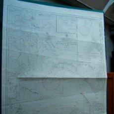 Antigüedades: APPROACHES TO PUERTO DE BUENOS AIRES RIOS PARANA AND URUGUAY-RIO DE LA PLATA-CARTA MARINA -107X77 CM. Lote 36239995