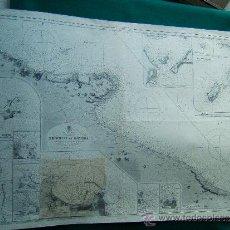 Antigüedades: BRINDISI TO ORTONA - ADRIATIC - WEST COAST -MEDITERRANEAN -ITALIA -CARTA MARINA 70X103 CM - 1945.. Lote 221640606