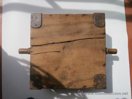 Antigüedades: Medida de grano de 10 litros Portugesa - Foto 2 - 36383590