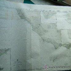 Antigüedades: CIVITA VECCHIA TO ISOLE PONTINE - MEDITERRANEAN SEA - ITALY - CARTA MARINA - 92X127 CM. - 1957 . Lote 36403638