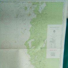 Antigüedades: DEN NORSKE KYST FRA OGNA TIL TANANGER - (NORUEGA) - CARTA MARINA 104X77 CM. - AÑO 1958.. Lote 36404451