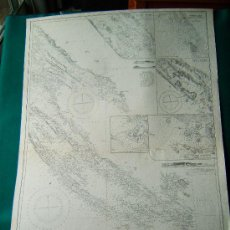 Antigüedades: DUGI ISLAND TO DRVENIK CHANNEL - ADRIATIC -EAST COAST- MEDITERRANEAN - (CROACIA) - 103X70 CM- 1943. . Lote 36405373